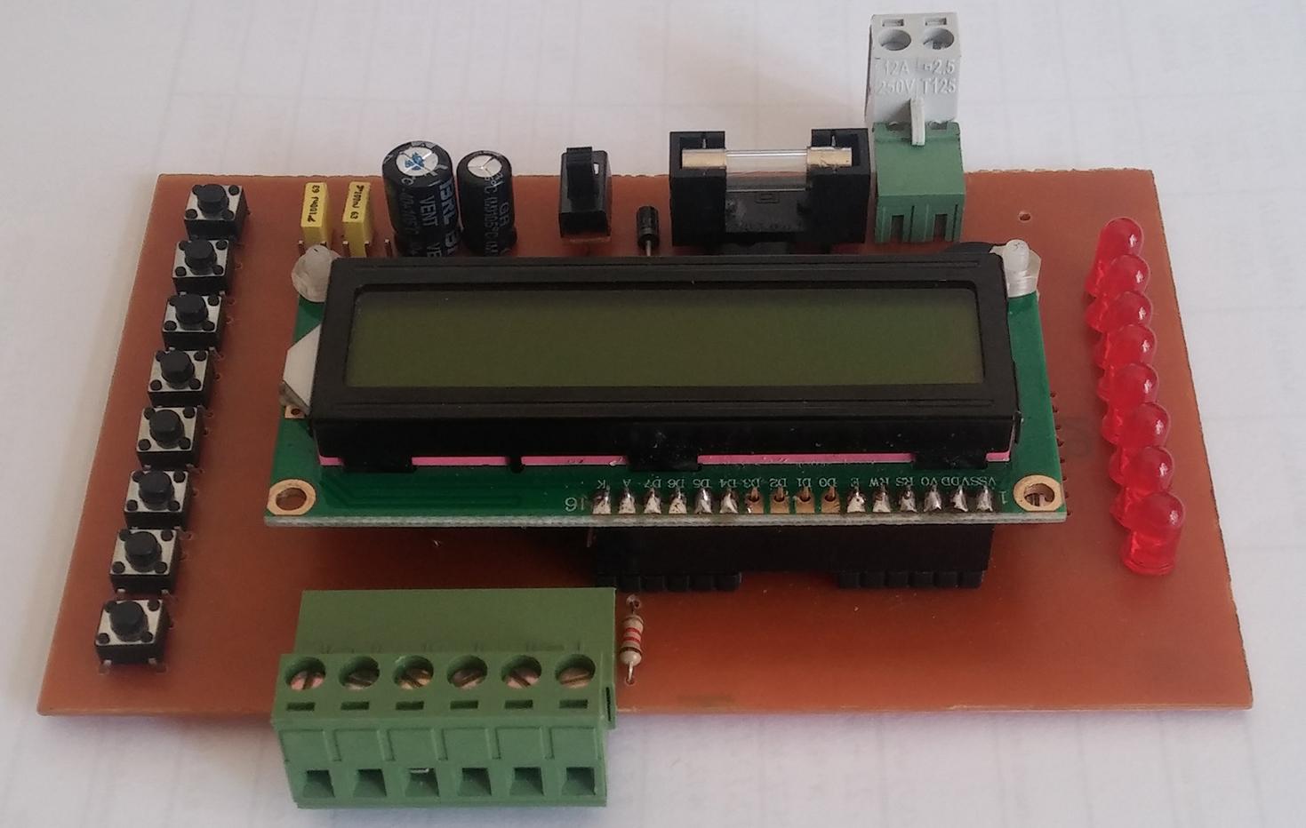 PIC16F877A Deneme ve Geliştirme Kartı