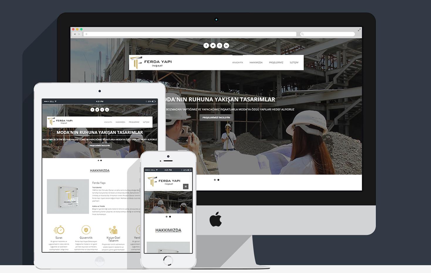 Ferda Yapı Kurumsal Web Sitesi